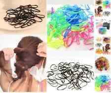 300pcs Rubber Hairband Braids Rope Ponytail Holder Elastic Hair Band Ties