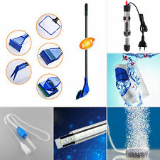 Aquarium Fish Tank LED Light Water Heater Air Stone Cleaning Brush Filter Siphon