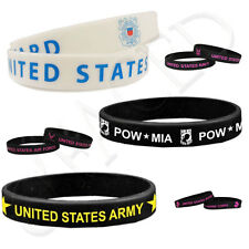 Wristband - USAF Air Force USCG Coast Guard NAVY USMC Marine US ARMY Wrist Band