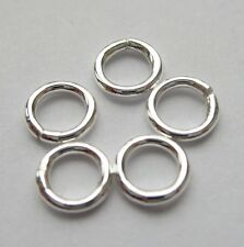 5 mm 18 GA Solid Sterling Silver 925 Round Closed Soldered Jump Rings 5 - 100 pc