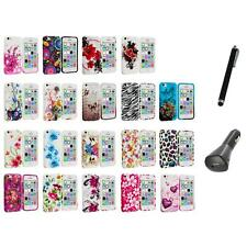 For Apple iPhone 5C Color TPU Rubber Design Gel Soft Case Cover+Charger+Pen