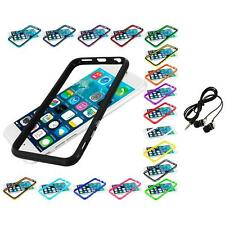 For Apple iPhone 6 (4.7) TPU Bumper Frame Metal Buttons Case Headphones