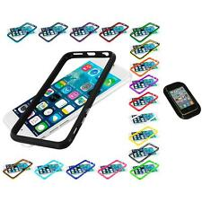 For Apple iPhone 6 (4.7) TPU Bumper Frame Metal Buttons Case Sticky Pad