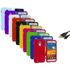 Color Hard Case Cover+USB Cable for Samsung Sprint Galaxy S II S2 Epic Touch