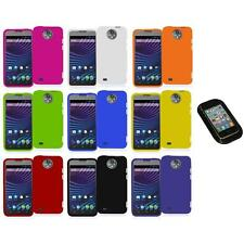 For ZTE Sprint Vital N9810 Hard Snap-On Rubberized Case Cover+Sticky Pad