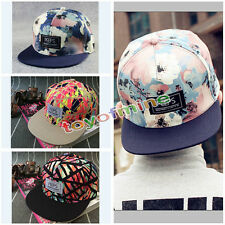 Fashion Men's Women's Floral Snapback bboy Adjustable Baseball Cap Hip Hop Hat