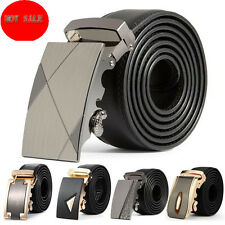 Business Mens Leather Belt Automatic Buckle Belts Waist Strap Belt Waistband New
