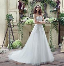 New Crystal Wedding Dress Sweetheart Bridal Dresses Plus Size US 4-26W In Stock