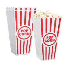 Novelty Place 2/4/8 Classic Plastic Popcorn Box Reusable Containers Movie Party