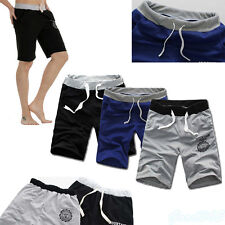 Casual Men Summer Loose Cotton Shorts Pants Gym Trousers Sports Jogging Trousers