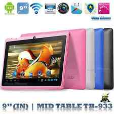"""5 colors 9"""" Android 4.4 A33 Quad Core 522 +8G 8GB Wifi Bluetooth Tablet PC"""