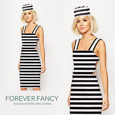 Classy Sexy Convict Prisoner Costume Hen Party Fancy Dress Outfit UK 8-18