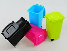 Mini Wheelie Bin Desk Office Desktop Stationery Organiser Pen Pencil Holder tb