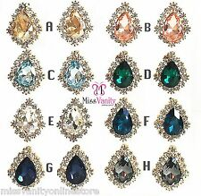 NEW LADIES BEAUTIFUL COLOURED STUD DIAMANTE CRYSTAL PAIR EARRINGS + FREE POUCH