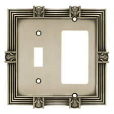 Wall Switch Plate Cover Brushed Satin Pewter Pineapple Decora Toggle Outlet