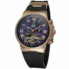 FORSINING New Date Rubber Strap Sport Tourbillon Automatic Wrist Watch Mens Gift