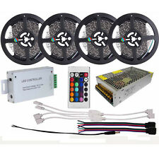 20M 60Leds/M SMD 3528 RGB Ribbon LED Strip Light+IR Remote Controller+10A Power