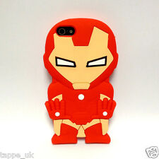 New Iron Man 3D Comic Hero Cartoon Silicone Case Cover Skin for iPhone or iPod