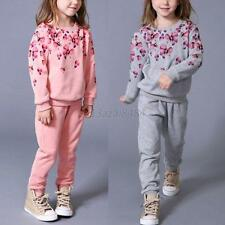 Baby Girl Kid Sweater Top Sweatshirt +Pant Trouser Suit Outfit Clothing Set 2-7Y