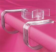 """2"""" inch Plastic Table Cloth Clear Clips Skirt Cover Decorations Party Tablecloth"""