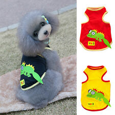 Doggy Dog Pet Mesh Cute Vest Tops Tee Cat Puppy Lizard Sleeveless Shirt T-Shirt