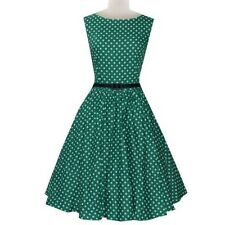 Plus Size Womens Polka Dots 50s 60s Vintage Swing Pinup Prom Evening Party Dress