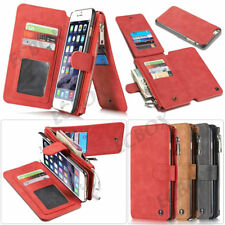Genuine Leather Case Zipper Wallet Card Purse Multifunction For iPhone 7 8 Plus