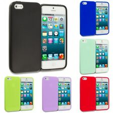 Color Jelly TPU High Gloss Rubber Skin Case Cover for iPhone SE