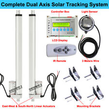 Solar Tracking Tracker Dual Axis Complete System Kit&Linear Actuator &Controller