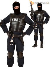 Boys Swat Officer Costume Childs Police Cop Fancy Dress Kids PC Outfit Book Week