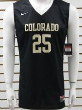 Men's Nike Dri-Fit Colorado #25 Sleeveless Basketball Jersey Black/Tan Brand New