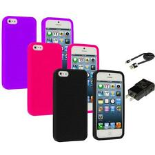 Color Silicone Earth Swirl Rubber Skin Case for Apple iPhone 5 5G 5S Accessories