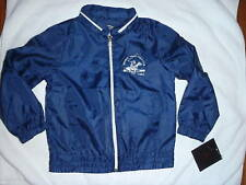 BEVERLY HILLS POLO CLUB Boys Girls Windbreaker Jacket Size 4 NWT Blue Hood Zips