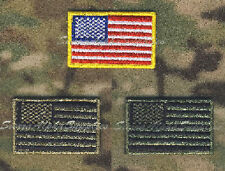 EMBROIDERED US STARS & STRIPES COLOUR, SUBDUED & DESERT FLAG PATCH,VELCRO BRAND