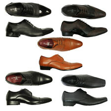 BRAND NEW MENS FORMAL SHOES SHINY GIO GINO POINTED OFFICE STYLISH LACE UP 6-11