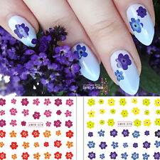 1 Sheet Flower Nail Art Manicure Water Decals Color Painting Transfer Sticker