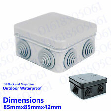 CCTV Weather proof Camera IP BOX Junction Box IP55 Terminal box in Black & gray