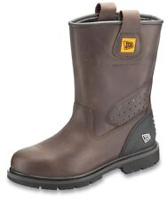 JCB TRACKPRO Brown Waterproof Rigger Safety Work Boot