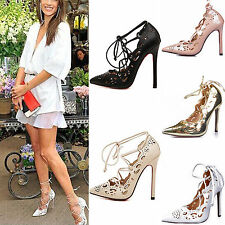 New Sexy Women Platform Stiletto Wedding Party High Heels Pumps Strappy Shoes