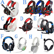 Cool USB Stereo Surround PC Computer Gaming Headset Headphone Headband with Mic
