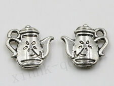 Wholesale Exquisite Teapot Charm Pendant Antique Silver Alloy Jewelry Making DIY