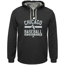 Chicago White Sox Majestic On-Field 1/4 Zip Hooded Fleece Sweater Jacket