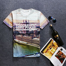 Hiphop Music Fashion 3D Mens Womens T-Shirt Short sleeve Punk Pullover Round Top
