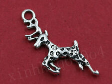 20/100pcs Lovely Sika Deer Charm Pendant Tibet Silver Fashion Jewelry Findings