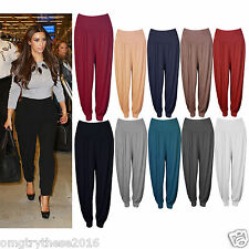 LADIES WOMEN FULL LENGTH GIRLS ALI BABA FLARED BAGGY CASUAL PARTY TROUSER PANTS