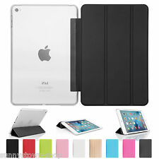 UK New Ultra Slim Smart Stand Magnetic Leather Case Cover For APPLE iPad Mini 4