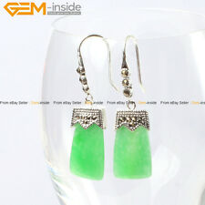 GEM-inside Fashion 11x22mm Rectangle Beads Tibetan Silver Dangle Earrings 1 Pair