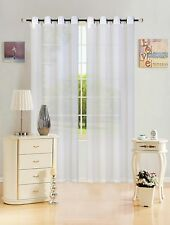 Quality Sheer Voile Window Curtain Panel, Grommet Top, Solid Color, Leah, 55x84
