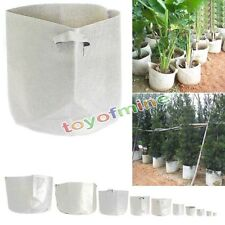 Round Fabric Pots Plant Pouch Root Container Grow Bag Aeration Container 6 SIZE
