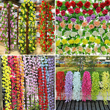 Artificial Flowers Silk Garland Vine Ivy Leaf Plants Home Wedding Party Decor